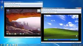 VMware9 on Windows 7 running virtual images of Windows 7 and Windows XP
