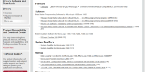 MicroLogix Downloads Page