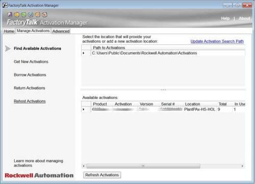 FactoryTalk Activation Moving aka Rehosting Step 3