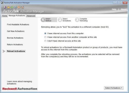 FactoryTalk Activation Moving aka Rehosting Step 4