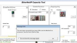 Using the EthernetIP Capacity Tool 13