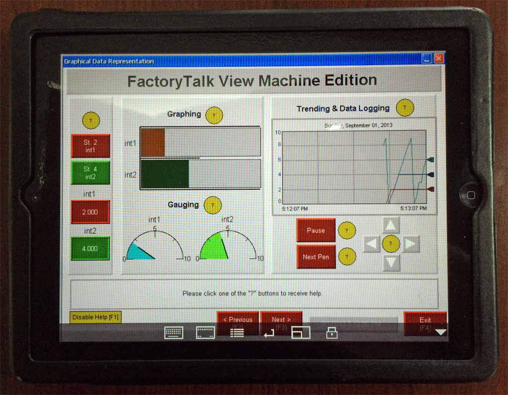 Using an Apple iPad or iPhone to control your A-B PanelView Plus