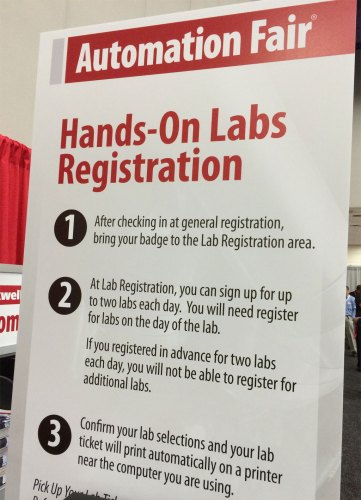Automation Fair Hands-on Labs Sign