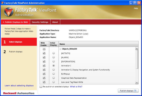 FactoryTalk ViewPoint Administration Wizard