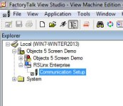RSLinx Enterprise in ViewStudio Project