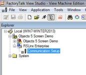 RSLinx Enterprise in ViewStudio Project