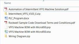 Micro850 VFFS Sample Code Files