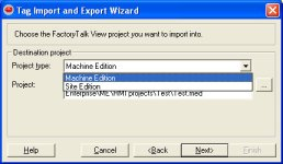 Tag Import and Export Wizard Step 3