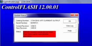 Failed to flash 1734-OE4C step featured image