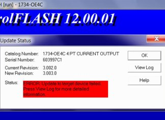 Failed to flash 1734-OE4C step featured image