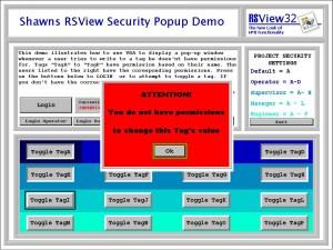 RSView32 Security Popup Demo