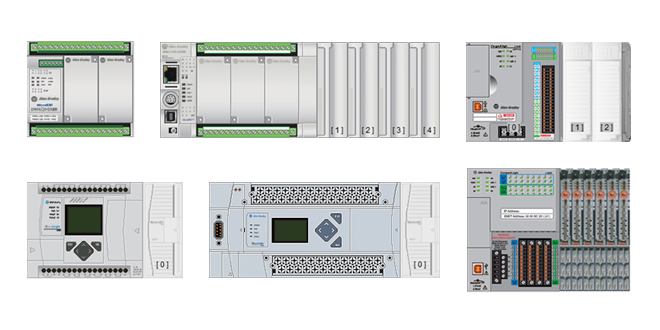 Small Allen-dley (A-B) Ethernet Programmable Controllers on