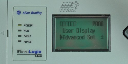 MicroLogix-1400-LCD-Main-Menu-Advanced-Sel