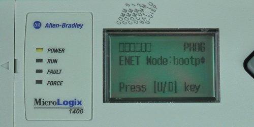 MicroLogix-1400-LCD-ENETcfg-Menu-IP-Mode-Bootp