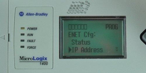 MicroLogix-1400-LCD-ENETcfg-Menu-IP-Sel