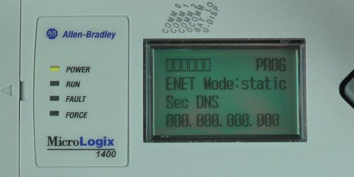 MicroLogix-1400-LCD-ENETcfg-Menu-IP-Static-SDNS-Entry-0