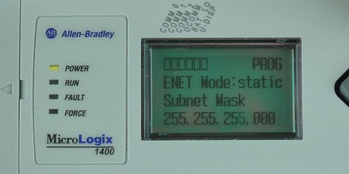 MicroLogix-1400-LCD-ENETcfg-Menu-IP-Static-SN-Entry-1
