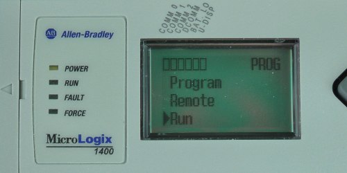 MicroLogix-1400-LCD-Mode-Menu-Run-Sel