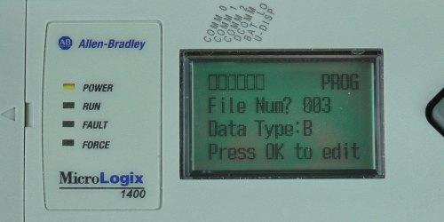 MicroLogix-1400-LCD-Monitor-Menu-3-Sel
