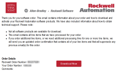 Rockwell Software Order Email 1