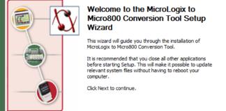 MicroLogix to Micro800 Install Fi