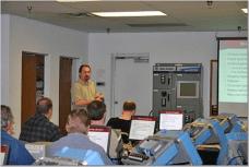 Shawn teaching PLCs in 2005