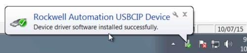 RSLinx to CompactLogix via USB 4 Ins-2