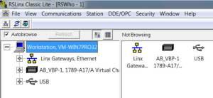 RSLinx to CompactLogix via USB 5 RSL-1