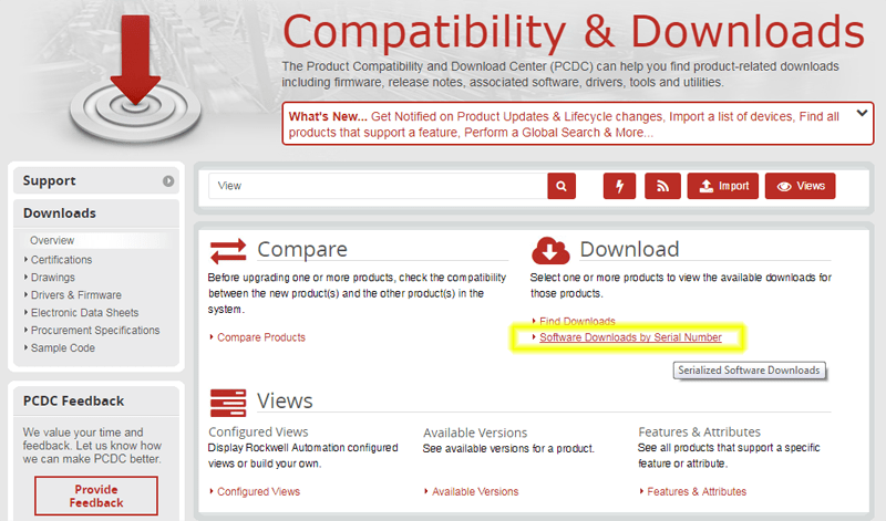 How to find and download Rockwell and Allen-Bradley software