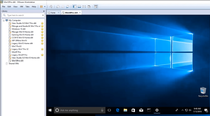 Creating a Windows 10 VM Using VMware Workstation - The