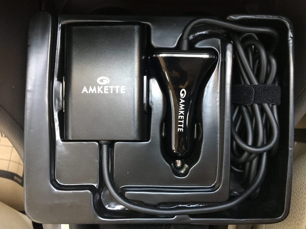 Buy Amkette 4 Port Front and Back Seat 9.6A Car Charger