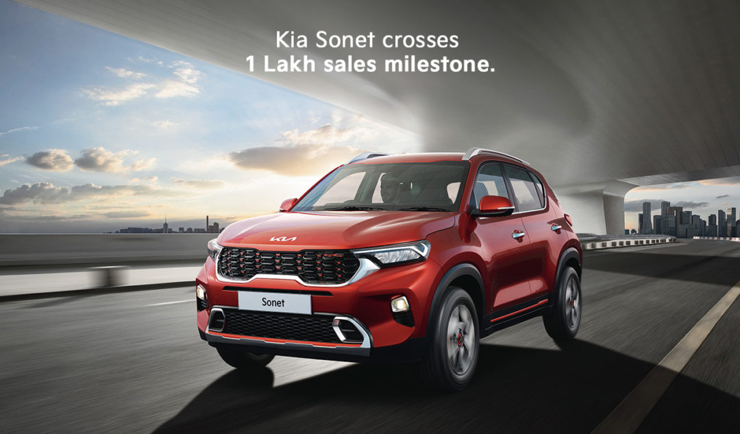 Kia Sonet crosses one lakh sales milestone in less than 12 months