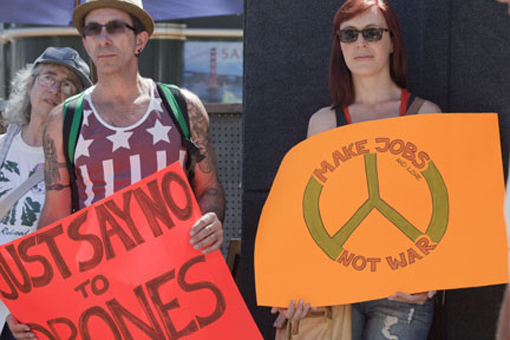 Demonstration Against Bombing Syria