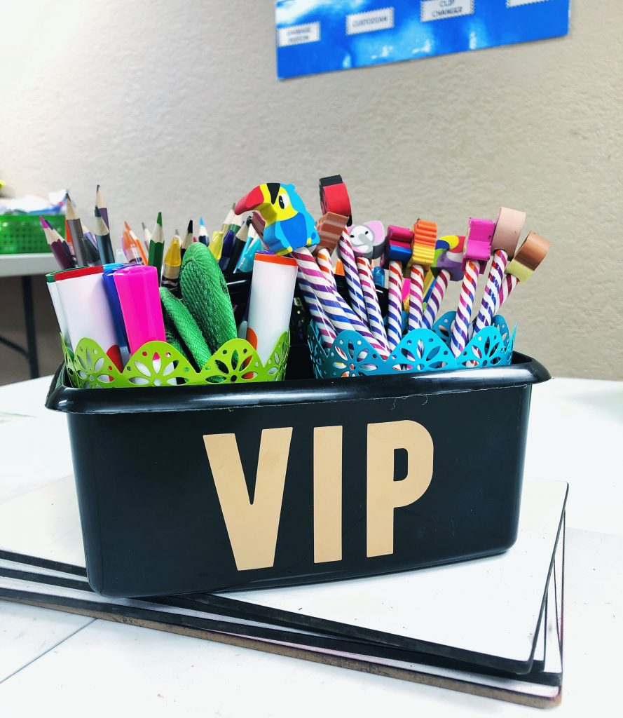 Behavior Management Strategies - Table points and VIP Caddy