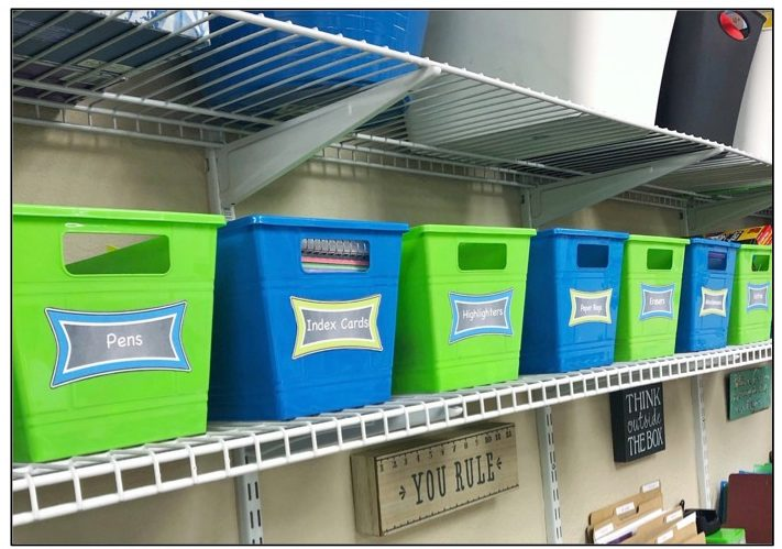 teacher storage ideas - school supplies