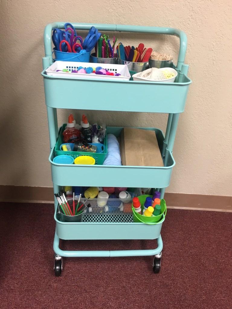 Teacher storage ideas - craft supplies