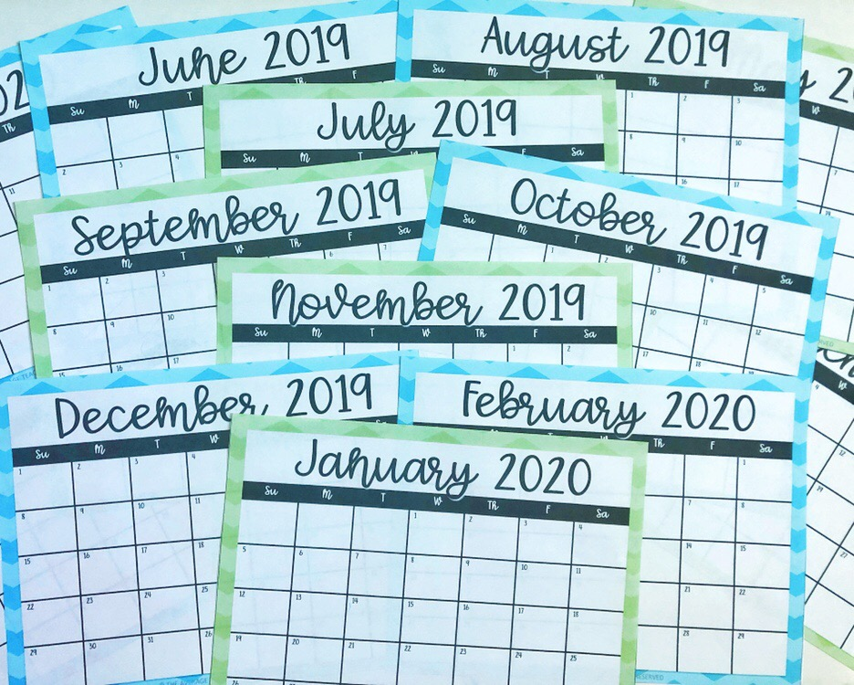 Time management for teachers - calendar