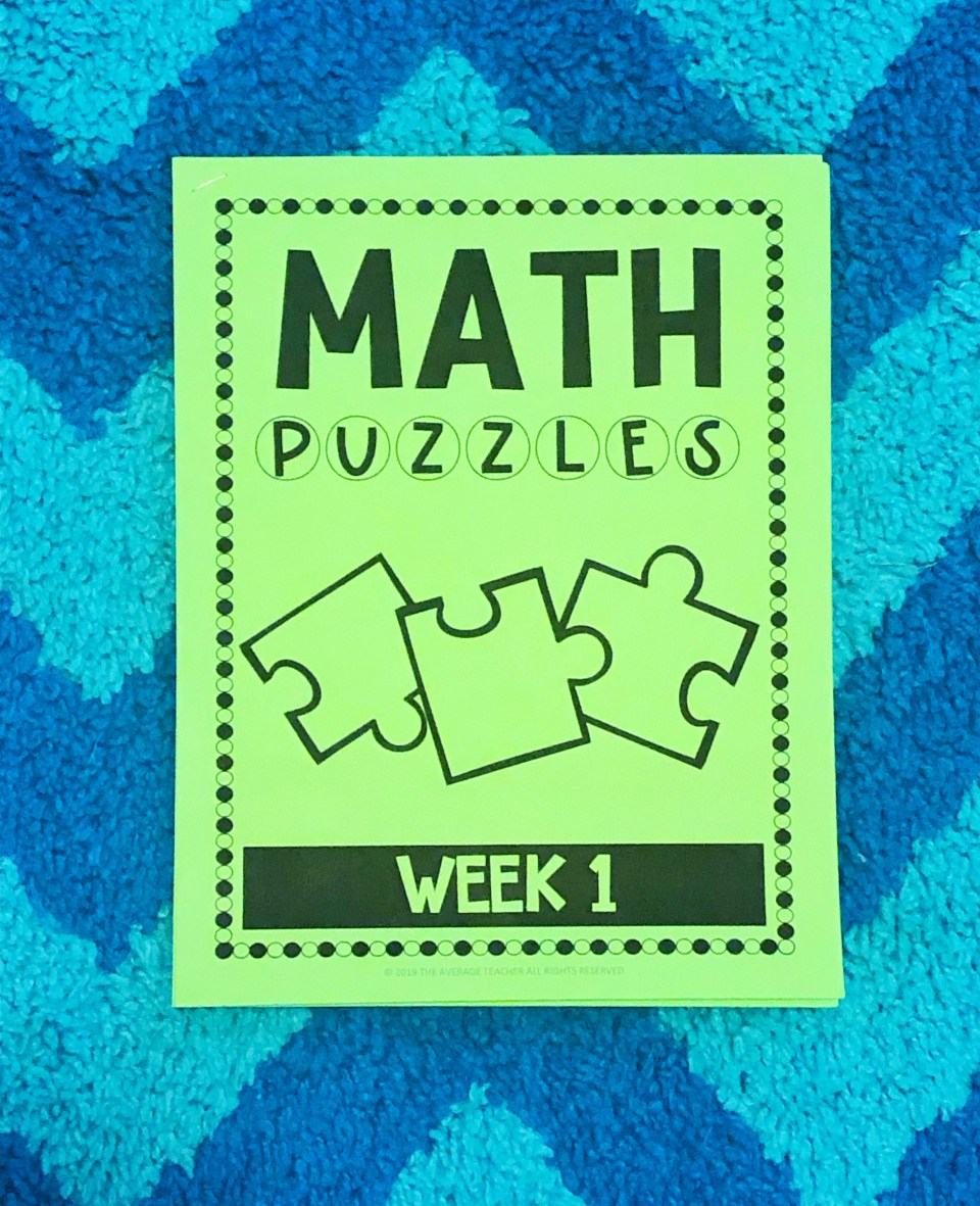 Early finisher activities - math puzzles