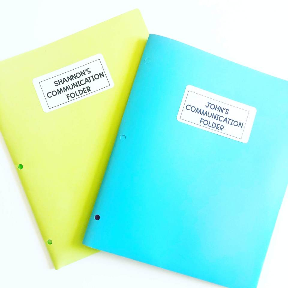 Parent teacher communication folders