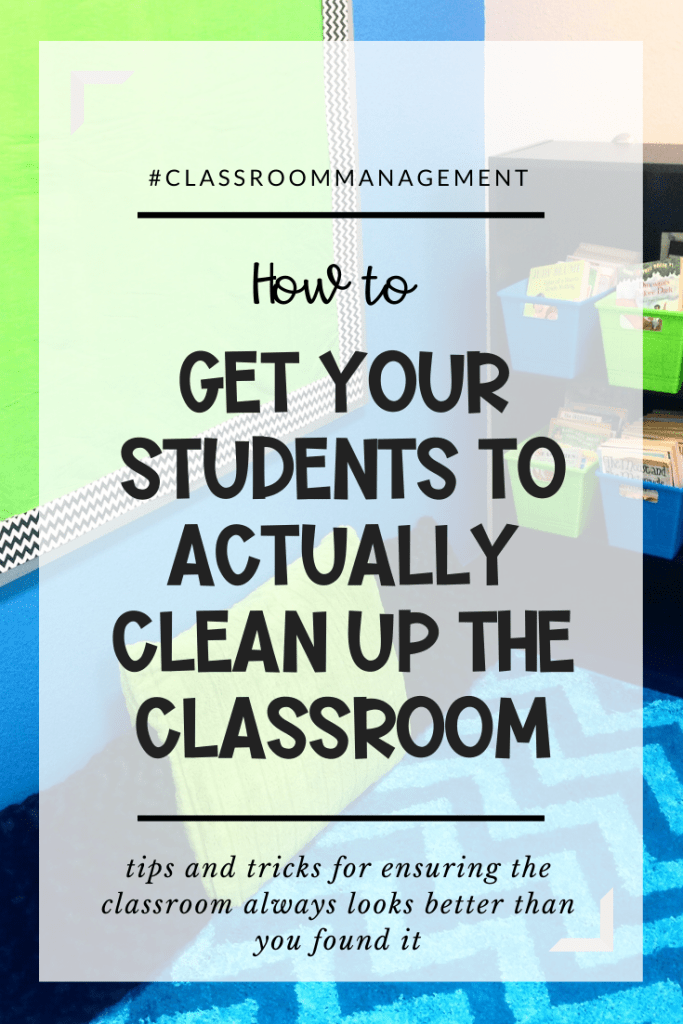 Successful Classroom Cleanup for Students