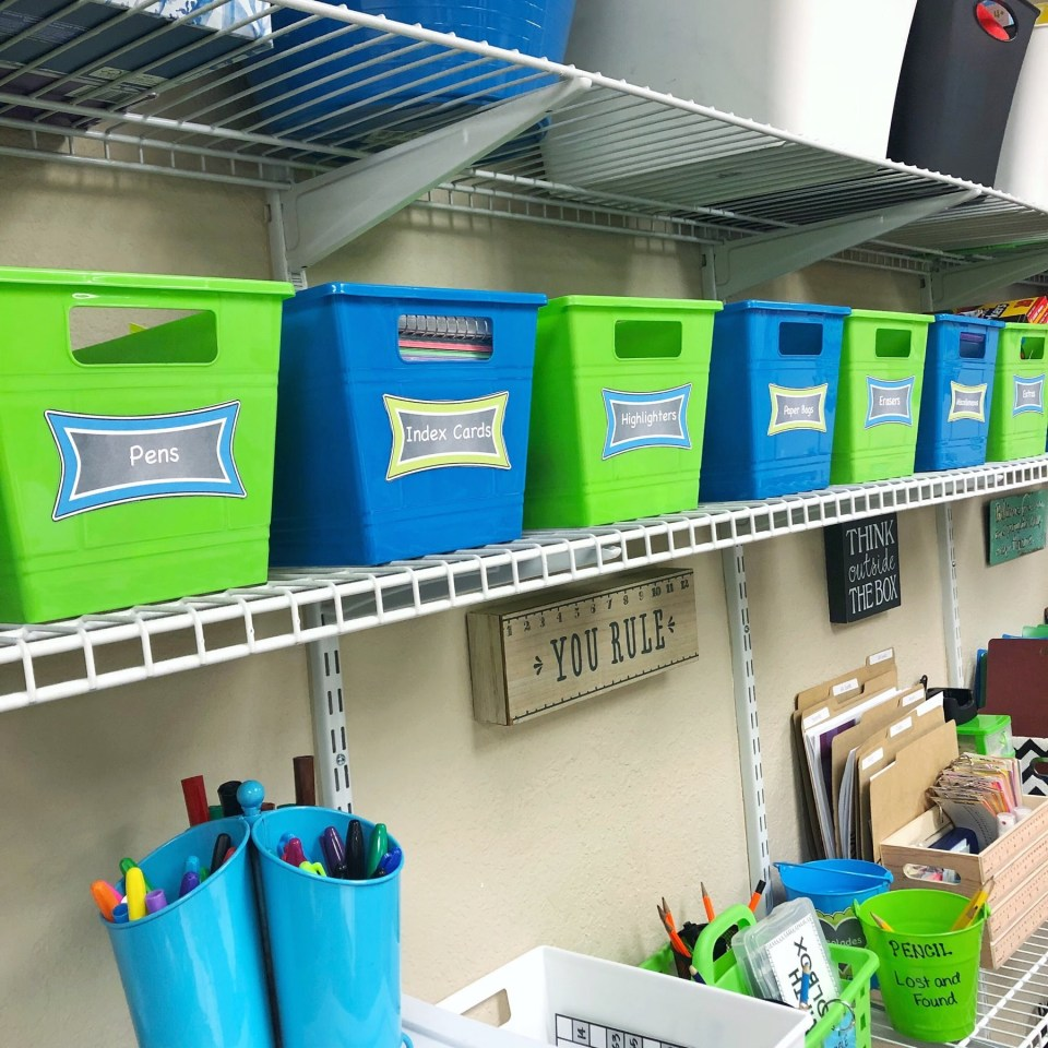 Classroom clean up starts with effective organization