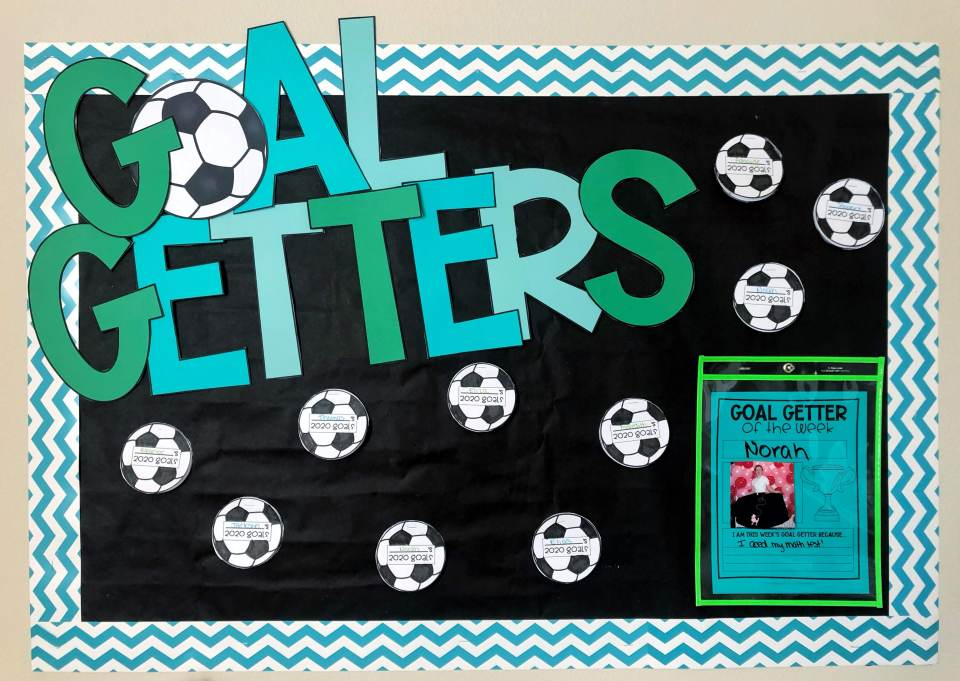 Goal setting for students - set up a bulletin board to support student goals!