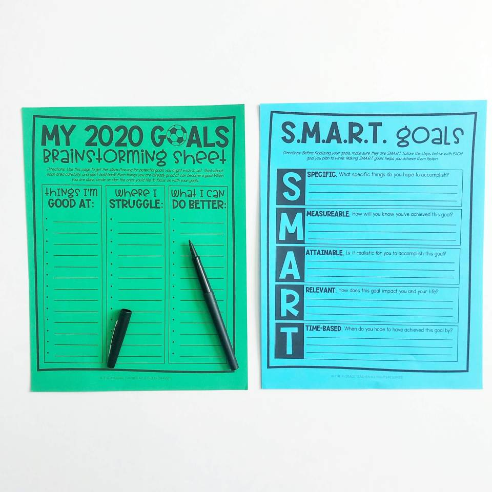 Goal setting for students - Brainstorm and make those goals S.M.A.R.T.