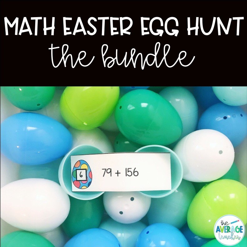 Math Easter Egg Hunts on TpT