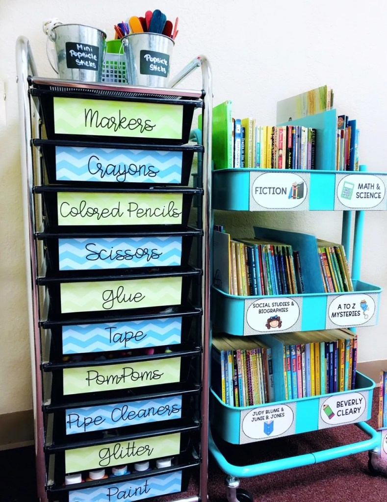 Classroom organization hacks for storage