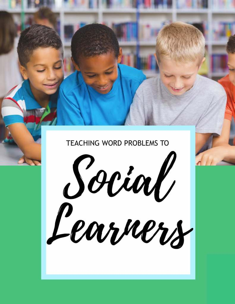 Teaching word problems to social learners