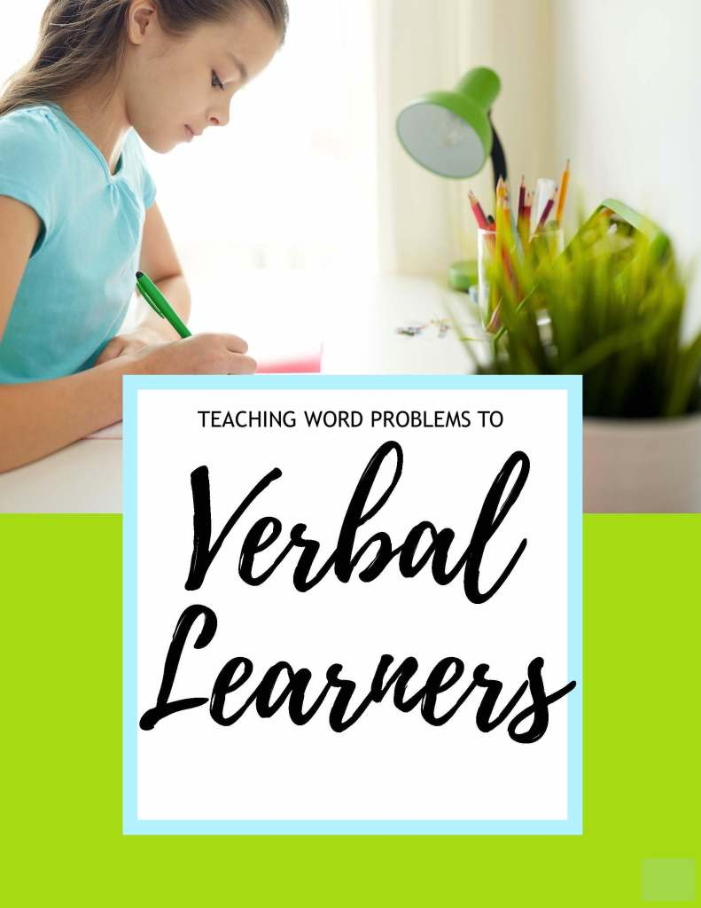 Teaching word problems to verbal learners