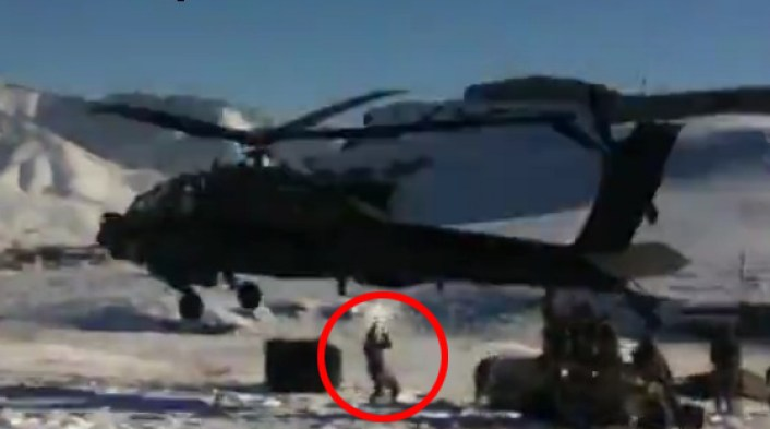Close call: this is it  What the footage of the AH-64D crash