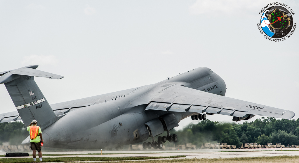 the aviationist awesome giant c 5 galaxy near tailstrike take off