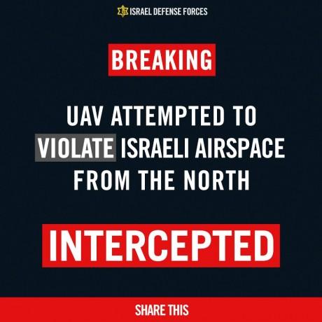 UAV intercepted